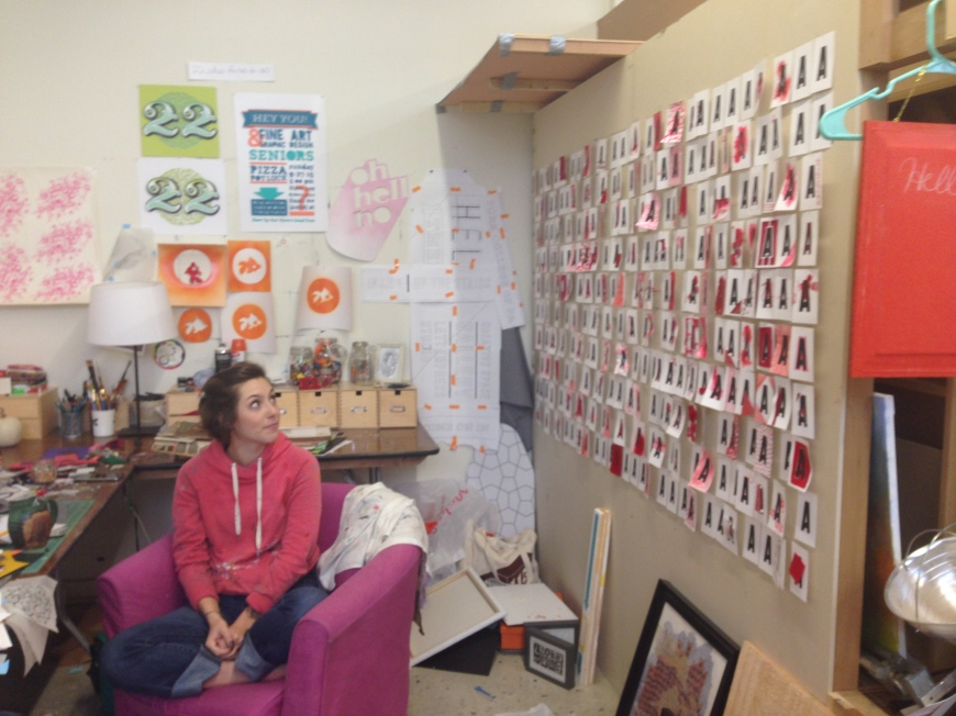 Anya Felch is shown in her Marketview Arts studio.